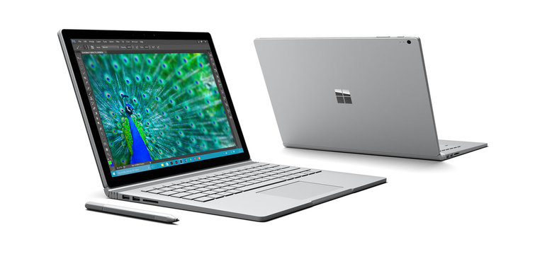 Microsoft's Surface Book laptop. Credit: Microsoft
