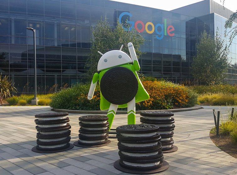 The Android 8 Oreo statue on Google's Mountain View, Calif., campus. Credit: Asif Islam/Shutterstock
