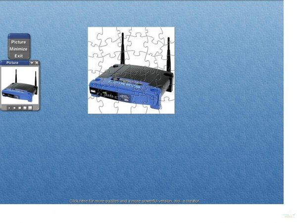 Screenshot linksys wireless wrt54gs puzzle